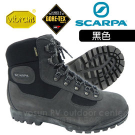 【義大利 SCARPA】熱賣款 Lite Trek Gore Tex 寬楦高筒登山鞋(非環保鞋底不水解_Vibram黃金鞋底)/防水透氣/超耐用 耐磨/黑 60023G