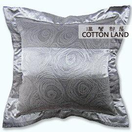 寬條灰~45x45cm~絲絨壓花抱枕套