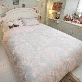 天絲床組  胡桃木花園 雙人加大鋪棉床包鋪棉兩用被四件組^(40S^) 100^%木漿纖維