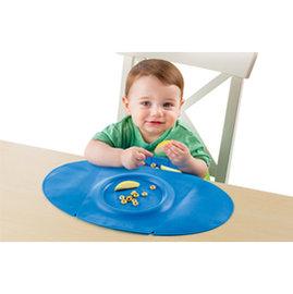 【紫貝殼】『HE02』 美國 Summer Infant 防水學習餐墊 Tiny Diner 2 第二代新款 藍色【100%防水材質、易清洗、收納方便】