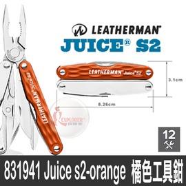 探險家戶外用品㊣831941 美國 LEATHERMAN 橘色工具鉗Juice s2-orange 折疊刀 摺疊刀 求生刀 野營 露營