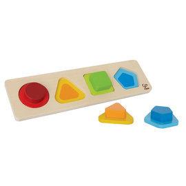 【紫貝殼】『CGC05-16』德國 Hape 愛傑卡 小寶寶形狀拼圖【學習顏色及形狀的辨識 】