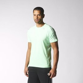 Adidas~ climacool系列 透氣 涼爽 慢跑 健身 運動 短T恤-淺綠 (S18251)