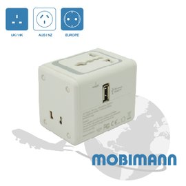 ~mobimann系列 EEC~148U~21~ 2.1A USB萬國旅行轉接充 , 超過
