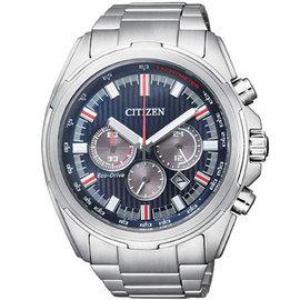CITIZEN Eco-Drive 競速風雲光動能時尚腕錶-藍面(CA4220-55L)