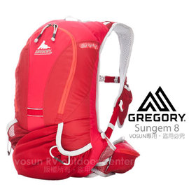 【美國 GREGORY】Sungem 8 輕量慢跑水袋背包(8L)/運動背包.跑步.自行車.游泳.自助旅行.露營/紅色 GM59800 (缺貨中)