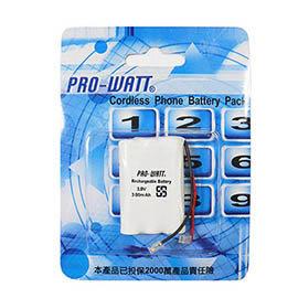 PRO~WATT P140萬用接頭 無線電話電池3.6V 300mah ^(尺寸: AAA