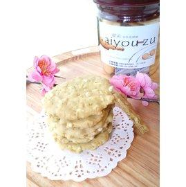 老黃莊~愛祐 餅乾~罐裝~抹茶香米∼ 食材 發酵奶油 180g