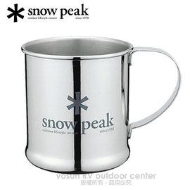 【日本 Snow Peak】SP 不鏽鋼單層杯-300cc(Stainless Steel Cup)鋼杯.冷飲杯子.馬克杯.居家戶外露營登山/E-010(缺貨中)