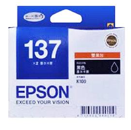 T137151 EPSON  黑色墨水匣^(雙包裝^)  K100