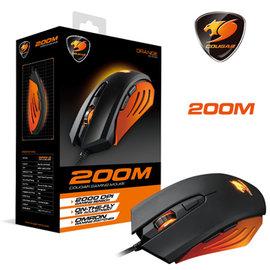 偉訓 COUGAR 200M 光電遊戲滑鼠 黑 橘 二色