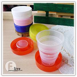 【Q禮品】B2565 糖果伸縮折疊杯/PP環保伸縮收納杯/迷你伸縮折疊杯/露營野餐/攜帶型水杯/客製化印製