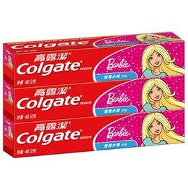 高露潔 防蛀含氟兒童牙膏40g^~3入 ^(香香水果口味~芭比^)