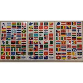 【*04】RIMOWA 原廠貼紙/行李箱造型貼紙/創意貼紙/各國國旗【共三張】