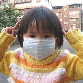 ~雨晴牌-三層不織布口罩~~幼幼童-藍色~ 一盒50片 SGS合格  高效能  舒適 無異