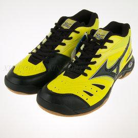 6折出清~2E寬楦~美津濃Mizuno WAVE GATE 3 羽球鞋-黃/黑 (71GA154045)