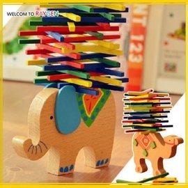 玩具 親子益智遊戲大象駱駝彩棒平衡木 疊疊樂【HH婦幼館】
