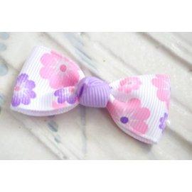 ~liliantang~ 蝴蝶結 ~~ 小可愛的小蝴蝶結髮夾 髮飾~~花朵奇緣^(粉桃與紫