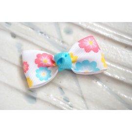 ~liliantang~ 蝴蝶結 ~~ 小可愛的小蝴蝶結髮夾 髮飾~~花朵奇緣^(粉桃與藍
