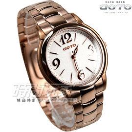 GS6109L~44~241 貨 GOTO 簡約 腕錶 不�袗� 玫瑰金電鍍 白面 防水手