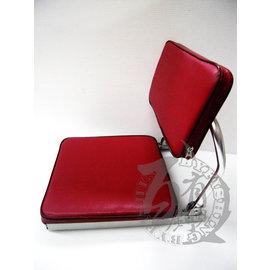 ◎百有釣具◎紅色冰箱坐墊 椅背設計更舒適