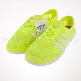 6折出清~Adidas NEO QT LITE W 超輕量 帆布 輕便鞋 螢光黃 (F97694)