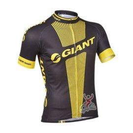 ~ 百分百~13捷安特GIANT黑黃 騎行服 男款透氣衫 自行車衣 單車服 腳踏車衣 短上