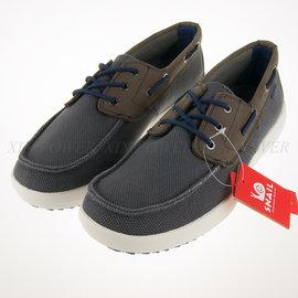SNAIL~輕便 透氣 網布 休閒鞋 帆船鞋-灰 (S-2150109)