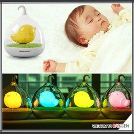 LED觸拍感應童話鳥籠小夜燈 USB充電【HH婦幼館】