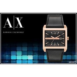 ~時間道~〔Armani Exchange~AX〕A^|X 前衛 方型 腕錶 – 黑面金框