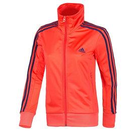 Adidas 女 基本款 休閒 針織 運動 外套-橘 (S13558)