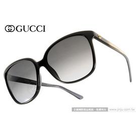 GUCCI 太陽眼鏡 GG3696S AM3HD (黑) 人氣熱銷迷人貓眼款 墨鏡 # 金橘眼鏡