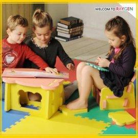 環保EVA自由組合DIY兒童學習桌椅整套 餐椅【HH婦幼館】