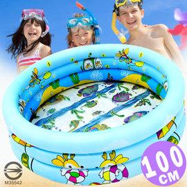 100CM小鹿充氣游泳池(透明底+排水孔)P008-101(100公分兒童戲水池充氣泳池球屋球池遊戲池推薦哪裡買專賣店)