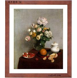 Henri Fantin Latour 亨利·方坦~拉圖爾 靜物畫F1 羅丹畫廊 世界名畫