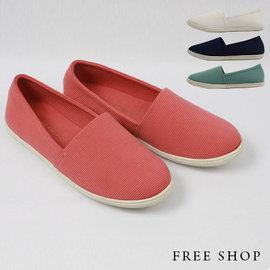 Free Shop~QSH0275~日 極簡休閒舒適 風 低筒休閒鞋懶人鞋•四色^(N33