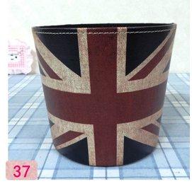 ZAKKA 英倫風 英國美國國旗 貼皮皮革小垃圾桶 車用垃圾桶 萬用桶 玩具桶 桌上型垃圾