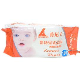 【吉嘉食品】肯尼士 嬰幼兒柔濕巾100抽 1包33元,另有肯尼士80抽嬰幼兒柔濕巾-加蓋{4711963112292:1}