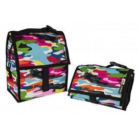 美國 Packit冰袋/多功能冷藏袋(M)-亮麗迷彩,贈:品牌隨手包濕巾*1包  *美國熱銷!!行動式摺疊冰箱~免插電!!保冰最長10HR!!*