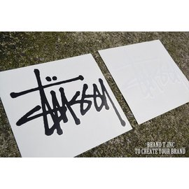 ~Brand T~ 15SS STUSSY  BIG STOCK DECAL  白色、黑色