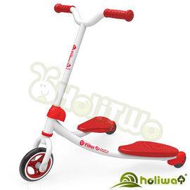 【Holiway】YVolution Fliker J2雙翼搖擺車學習版-紅