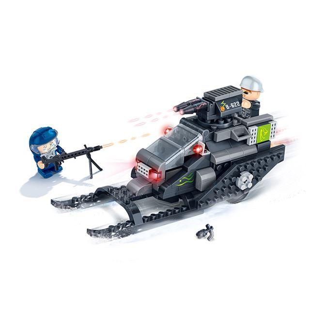 ~BanBao邦寶積木楚崴~超級警察系列 6212飛狐閃電炮 迴力車^(與樂高Lego相容