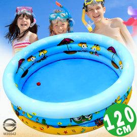 120CM小鹿充氣游泳池(排水孔)P008-120(120公分兒童戲水池充氣泳池球屋球池遊戲池推薦哪裡買專賣店)