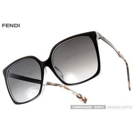 FENDI 太阳眼镜 FS0076FS DU09O (黑) 时髦魅力方框款 墨镜 # 金橘眼镜