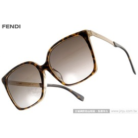 FENDI 太阳眼镜 FS0076FS DVOHA (琥珀-金) 时髦魅力方框款 墨镜 # 金橘眼镜