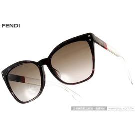 FENDI 太阳眼镜 FS0086FS YPP08 (黑) 性感唯美猫眼款 墨镜 # 金橘眼镜