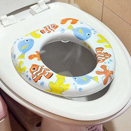 ~小兒彩色馬桶軟墊~馬桶蓋 馬桶座 馬桶軟墊 輔助便座 衛生馬桶墊 幼兒 兒童 51115