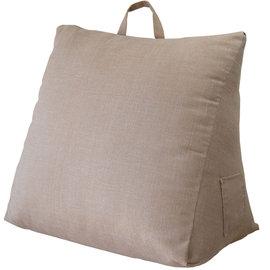 仿麻三角大靠墊-多 紓壓美腿^(米^)58^~58^~28cm^~1入 床頭靠枕 腰靠枕