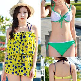 性感女孩.撞色點點三件式比基尼泳衣E311-X1502三件式泳裝3件式泳衣游泳衣溫泉泡湯泳裝鋼圈泳衣比基尼專賣店特賣會推薦哪裡買