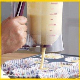 杯子蛋糕專用麵糊分配器 充填器 分液器 麵糊漏斗 量杯【HH婦幼館】